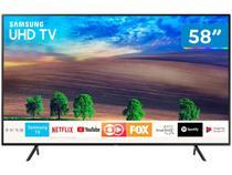 "Smart TV 4K LED 58"" Samsung UN58NU7100GXZD - Wi-Fi Conversor Digital 3 HDMI 2 USB"