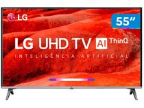 "Smart TV 4K LED 55"" LG 55UM7520PSB Wi-Fi HDR - Inteligência Artificial 4 HDMI 2 USB"