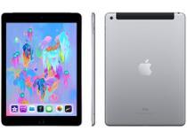 "iPad 6 Apple 4G 32GB Cinza Espacial Tela 9,7"" - Retina Proc. Chip A10 Câm. 8MP + Frontal iOS 11"