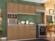 Cozinha Completa Poliman Móveis Paris - com Balcão Nicho para Forno ou Micro-ondas