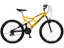 Bicicleta Colli Bike GPS Aro 26 21 Marchas  - Dupla Suspensão Quadro de Aço Freio V-Brake