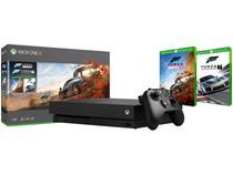 Xbox One X 1TB 1 Controle Microsoft com 2 Jogos - com 1 Mês de Game Pass