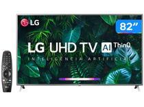 "Smart TV 4K LED 82"" LG 82UN8000PSB Wi-Fi Bluetooth - HDR Inteligência Artificial 4 HDMI 3 USB"