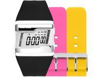 Relógio Unissex Mormaii Digital FZ/T8T Preto - com 2 Pulseiras Extras Coloridas