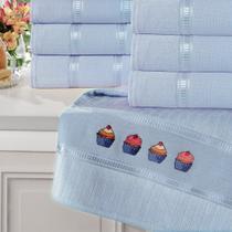 Toalha de Banho Aveludada Buettner Caprice Luxo Azul Bebe -