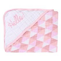 Toalha de banho bebe soft baby gijo compose rosa -
