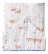 Toalha de Banho com Capuz - Papi Soft (Raposas Pequenas) - Papi Baby