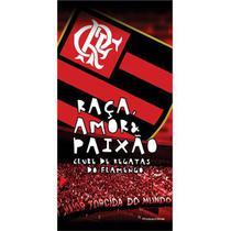 Toalha De Banho e Praia Time Aveludada Flamengo Torcida Oficial - Buettner