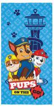 Toalha De Banho Infantil Aveludada Patrulha Canina Azul Lepper -