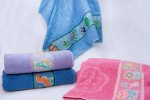 Toalha de Banho Infantil Camesa Dinos Azul -