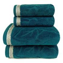 Toalha de Banho Sophia - Jg 5 Pçs - Banho, Rosto e Piso - Algodão 380gr/m2 - Lm Peter