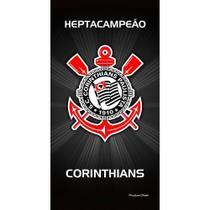 Toalha De Banho Veludo Corinthians Brasão Oficial - Buettner