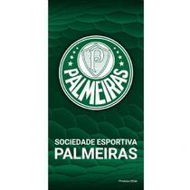 Toalha De Banho Veludo Palmeiras Brasão Oficial - Jet