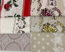 Toalha de mesa 6 lugares tecido linhão grosso 2,20x1,45 estampa variada/sortida - Tom & Estilo Enxovais