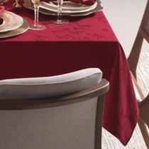 Toalha de Mesa Karsten Veríssimo Easy Wash160 x 320 cm 12 lugares  Vermelha -