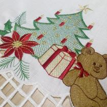 Toalha de Mesa Quadrada Presente de Natal 0,80 x 0,80 cm - Mehndi -