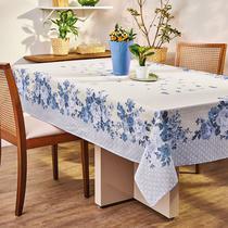 Toalha De Mesa Retangular Lepper Carol Estampada 140x220cm Azul -
