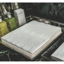 Toalha de papel lavabo Trevo  aberta 25x28,5cm branca 100 unid - Persona Guardanapos