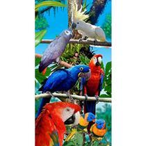 Toalha de Praia Aveludada Gigante Estampa Birds Forest - Buettner -