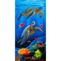 Toalha de Praia Aveludada Gigante Estampa Duas Tartarugas - Buettner -