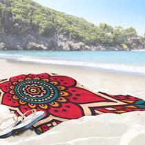 Toalha de Praia / Banho Mandala Red One - Love Decor