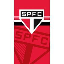 Toalha de Praia Buettner Felpuda Estampada Sao Paulo Vermelha -