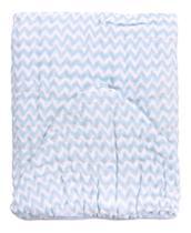 Toalha Fralda Bebe Soft Banhão Estanpada Chevron Azul Menino Azul 1,05mx85cm 100% Algodão - Papi
