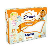 Toalha Fralda Cremer Luxo branca 70 x 120 cm c/ 3 und -