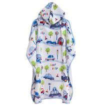 Toalha Infantil com Capuz Baby Beep Santista - Tamanho Único - Azul -