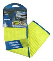 Toalha Microfibra Premium Limpeza Automotiva Amarelo E Azul - pancadaoeletronicos