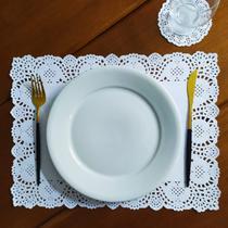 Toalha papel retangular rendada 30x40 cm  branco - 100 unid - Persona Guardanapos