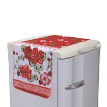 Toalha para Geladeira Flores Vermelhas Delicada - Outfiter