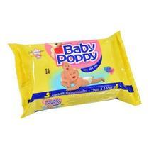 Toalha Umedecida Baby Poppy com Aloe Vera Pacote 100 Un -