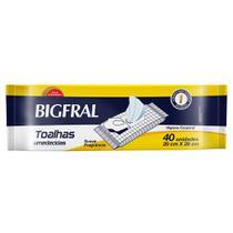 Toalha Umedecida Bigfral  - 40 unidades -