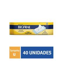 Toalha Umedecida Bigfral Com 40 Unidades -