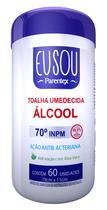 Toalha Umedecida com Álcool 70 INPM c/ 60 unidades Eu Sou Parentex -