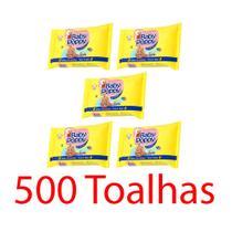 toalhas lenços umedecidos baby poppy premium mais encorpada kit 5x100 (500 toalhas) - Ákua
