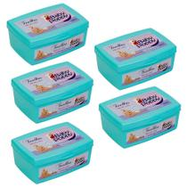 toalhas lenços umedecidos baby poppy premium mais encorpada kit 5x100 (500 toalhas) pote -
