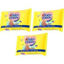 toalhas lenços umedecidos baby poppy premium mais encorpada para uso de toda a família 3x100unidades - Ákua