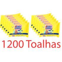 toalhas lenços umedecidos baby poppy premium super encorpada kit 12x100 (total 1200 toalhas) - Ákua