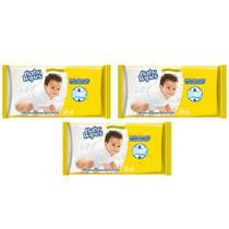 Toalhas lenços umedecidos baby wipes  hipoalergênico + absorção e rendimento s/ álcool parabeno 3x48 - Kimberly-Clark