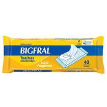 Toalhas umedecidas bigfral c/40 p/adulto -