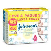 Toalhas Umedecidas Johnson's Baby Recém Nascido Leve 4 Pague 3 com 48 Unidades Cada - Jxj