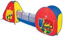 Toca Barraca Infantil 3 em 1 House Com 80 Bolinhas Coloridas - Braskit