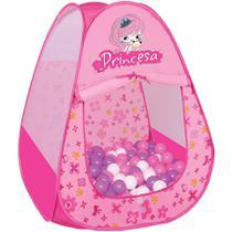 Toca Barraca Infantil Princesa Braskit  com 60 bolinhas -