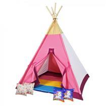 Toca Cabana Infantil em Tecido e Madeira Modelo Unicornio + 4 Almofadas  Papo de Pano -