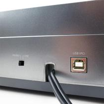 Toca discos Audio Technica AT-LP60 USB com Sistema de gravação de LP para digital Prata -