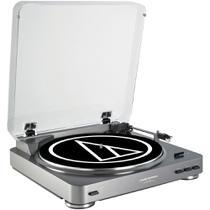 Toca Discos Audio Technica AT-LP60 USB Profissional Silver -