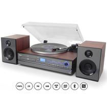 Toca-Discos Raveo Aria - Sistema de Áudio com caixas de som, CD Player, USB, Bluetooth Bivolt -