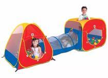 Toca Infantil 3 Em 1 Com Túnel Barraca Infantil Com Bolinhas - Braskit